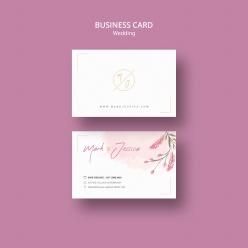 商務婚禮卡片PSD模板
