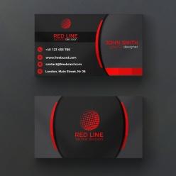 黑紅高端商務名片模板