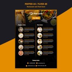 餐廳特色菜譜模板psd