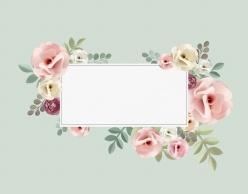 小清新花卉邊框ps素材