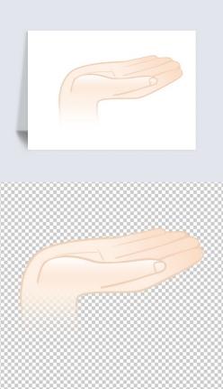 手掌肢體卡通元素
