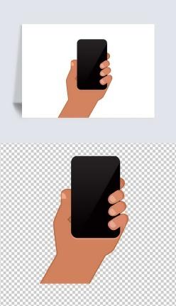 手機展示手勢卡通元素