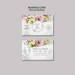 迷你商務婚禮卡片模板