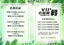 VIP會員招募宣傳單模板