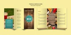 三折頁餐飲菜單小冊子模板
