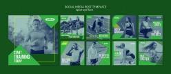 正方形運動人物宣傳畫冊設計