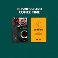 咖啡店名片模板設計