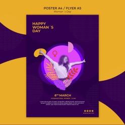 婦女節英文宣傳海報設計ps素材