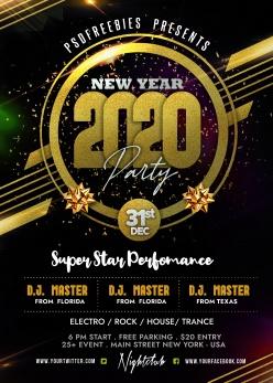 2020新年派對海報PSD素材