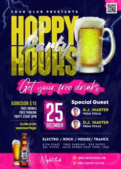 酒吧派對宣傳海報設計PSD