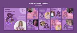 婦女節社交廣告海報排版設計