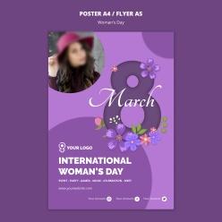 婦女節海報排版設計ps素材