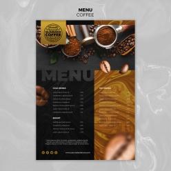 咖啡廳飲品菜單目錄模板