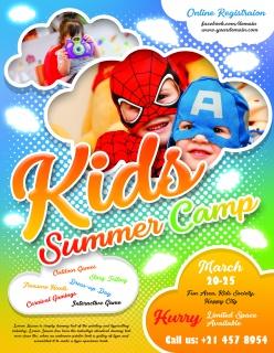 兒童夏季夏令營宣傳單設計