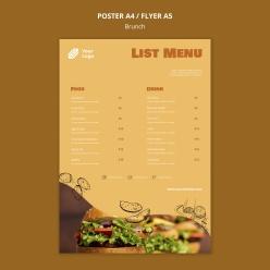 A4菜單模板設計