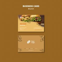 漢堡店名片模板設計