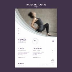 瑜伽招生宣传单模板