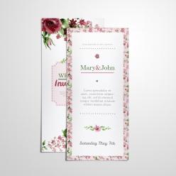 豎版婚禮邀請卡片展示樣機