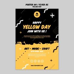 Yellow Day英文海報模板設計