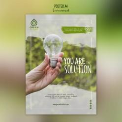 節能環保宣傳單模板素材