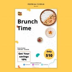 早午餐主題海報PSD模板