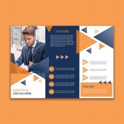 幾何業務宣傳冊模板免費PSD