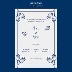 邀請卡婚禮模板免費PSD