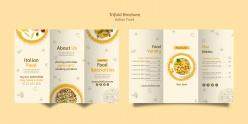 意大利美食折頁宣傳冊模板