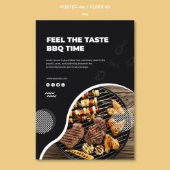 BBQ燒烤美食廣告海報設計