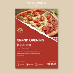 披薩餐廳海報模板PSD