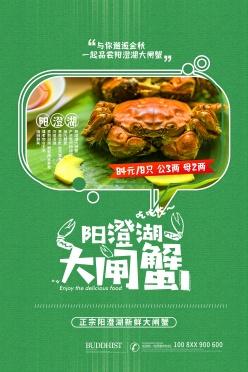 陽澄湖大閘蟹廣告海報設計