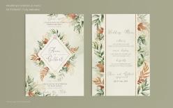 歐式古典婚禮邀請函模板