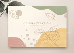 清新藝術風賀卡模板設計