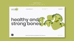 蔬菜概念橫幅模板