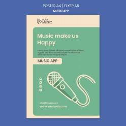 音樂應用APP海報模板