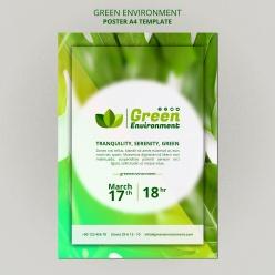 綠色環境海報模板