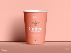 一次性咖啡杯樣機模板