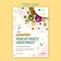 水果蔬菜傳單模板
