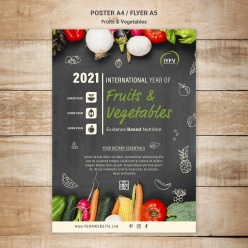 水果蔬菜年度傳單模板