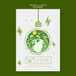 節能環保宣傳單模板