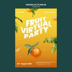 熱帶水果海報模板