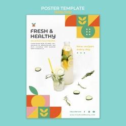 健康饮品广告海报设计PSD