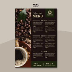 咖啡館點餐單模板源文件