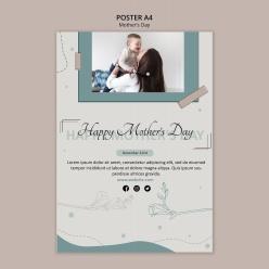 母亲节快乐免费广告海报