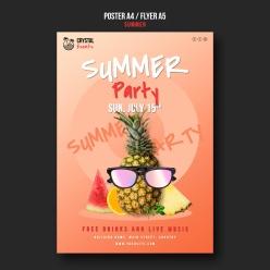 夏日派對廣告模板設計