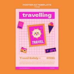 個性創意旅游海報模板