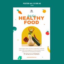 綠色健康果蔬海報設計