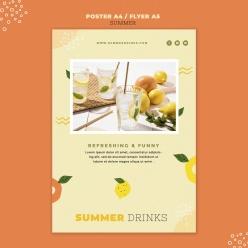 夏季飲料宣傳廣告設計