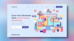 社交媒體營銷登錄頁模板