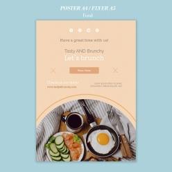 早午餐美食海報宣傳單設計